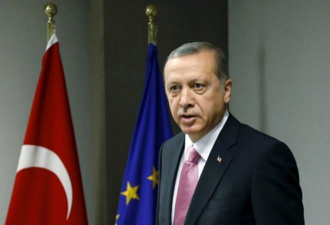 El presidente turco, Recep Tayyip Erdogan, en Bruselas.