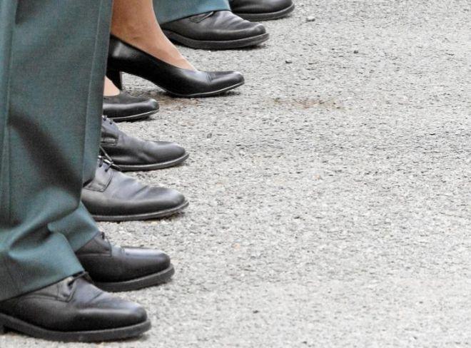 Agentes de la Guardia Civil en un acto del 12 de octubre.
