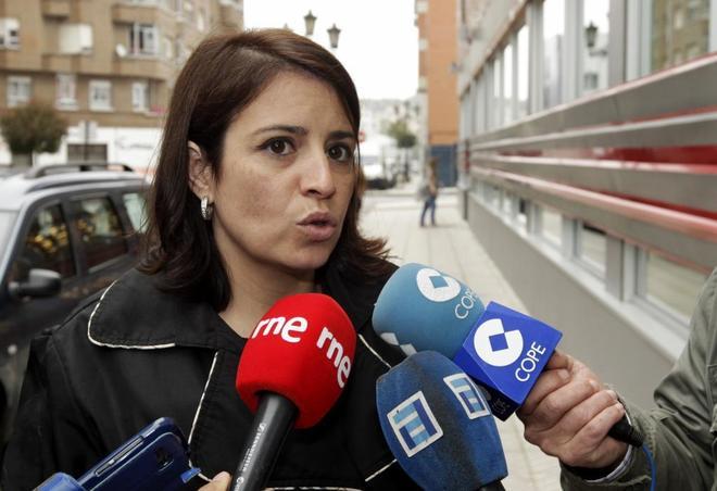Adriana Lastra, a su llegada al congreso extraordinario de los socialistas asturianos el pasado mayo.