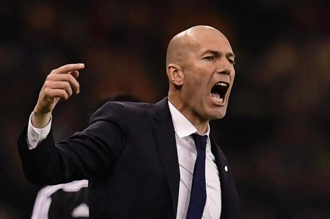 Zidane, durante la final en Cardiff.