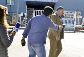 El ex tesorero del PP Luis Bárcenas, ayer, a su salida de la...