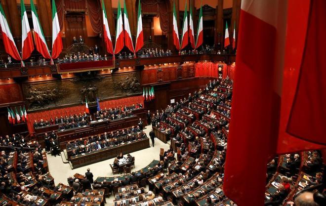 Vista general de la Cámara de los Diputados italiana en Roma.