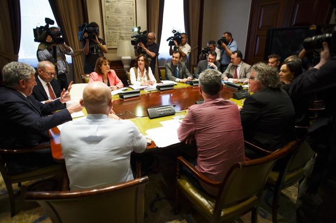 Reunión de la Mesa y portavoces de la comisión de investigación en...