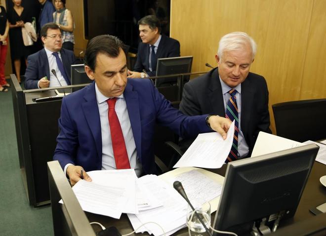 Fernando Martínez-Maíllo, coordinador general del PP, en la...