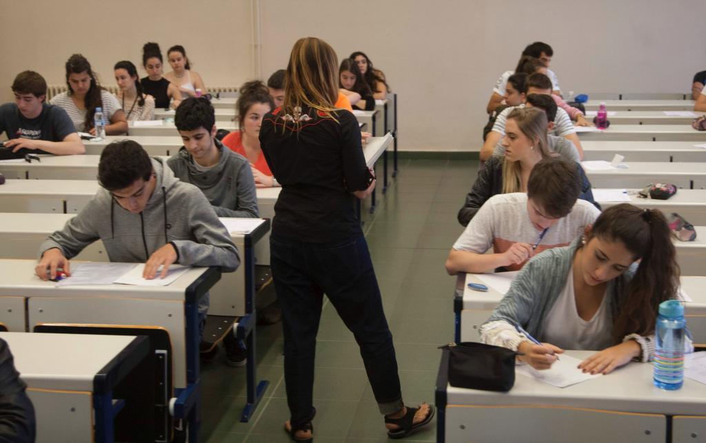 Un grupo de alumnos durante una prueba de selectividad.