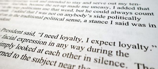 Extracto de la declaración de James Comey con la que va a abrir la sesión del Comité de Inteligencia del Senado.