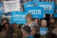 La primera ministra británica y líder del Partido Conservador, Theresa May.