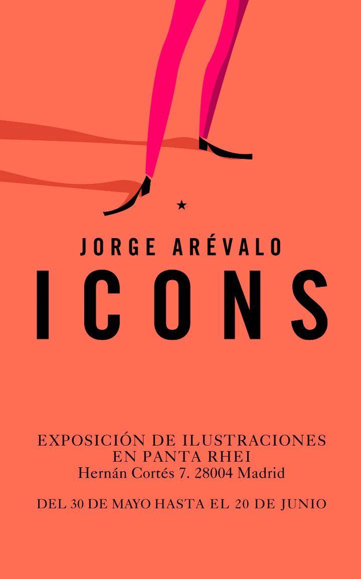 Cartel de la exposición Icons. Puede visitarse de 10.30 a 20.30 h.