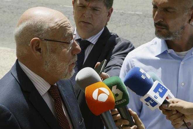 José Manuel Maza, fiscal general del Estado, a su llegada al Cnetro...
