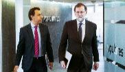 Mariano Rajoy y Fernando Martínez-Maillo, a su llegada a la reunión...
