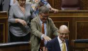 Cristóbal Montoro, en el Congreso tras aprobar los Presupuestos...