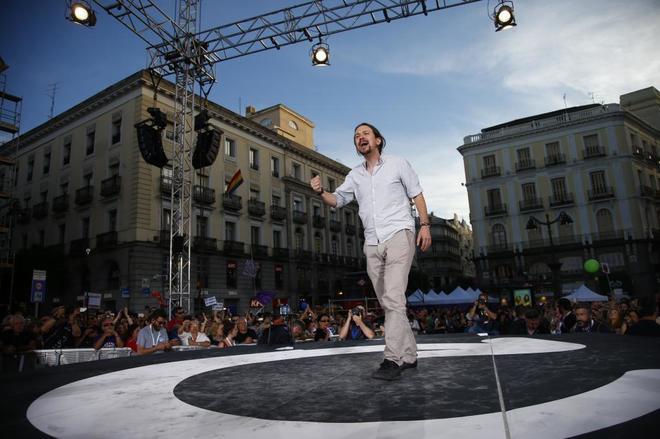 Pablo Iglesias durante la concentración del 21 de mayo a favor de la...