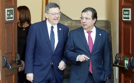 Ximo Puig y Fernández Vara en un reciente acto.