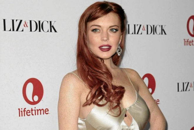 La actriz Lindsay Lohan.