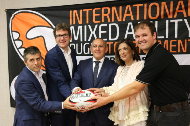 Presentación del Torneo Internacional de Rugby Inclusivo en Vitoria.
