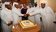 Pep Guardiola en una celebración con el equipo Al-Ahli en diciembre...