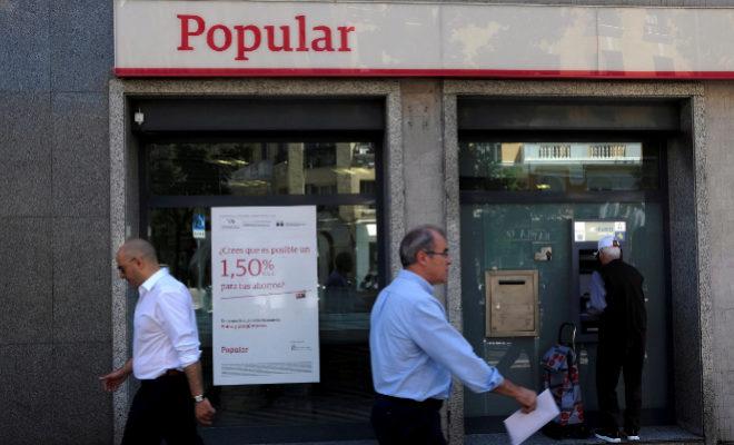 La oficina central del Banco Popular en Castellón está en la plaza de La Paz de la capital de la Plana.