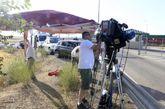 Medios de comunicación esperan en el exterior de la prisión de...