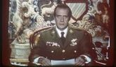 El Rey Juan Carlos durante la emisión de su mensaje a la Nación...