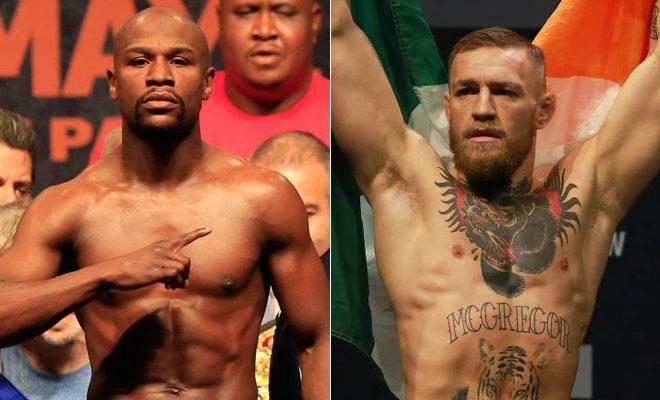 El boxeador Floyd Mayweather y el luchador  de artes marciales mixtas Conor McGregor.