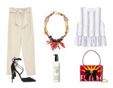 De izq a dcha: Pantalón con lazo en cintura (22,95 euros), de Zara....