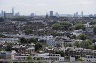 Una vista aérea del 'skyline' de Londres.
