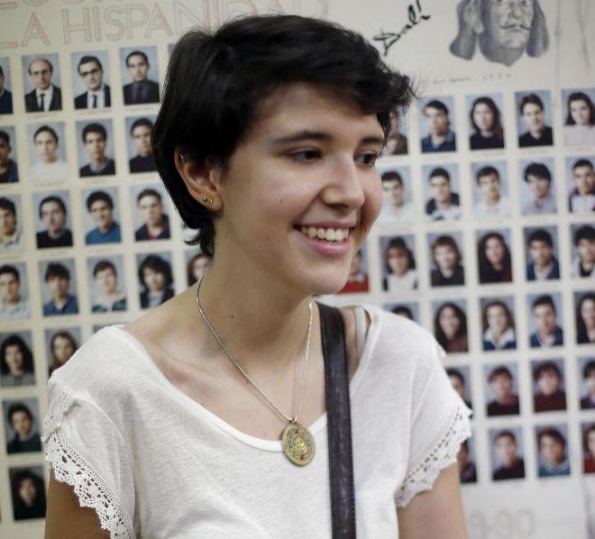 Carlota Monedero, alumna del colegio Santa María de la Hispanidad ha obtenido un 10, la nota más alta en Selectividad.