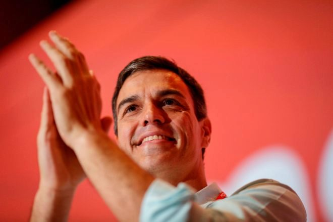 Pedro Sánchez en el 39 Congreso Federal del PSOE en Madrid.