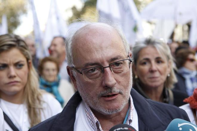 Benigno Blanco, en una manifestación Pro Vida en Madrid.