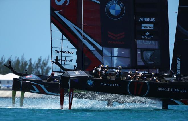 El Oracle estadounidense, este domingo en competición, en Bermudas.