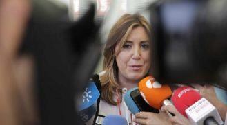 Susana Díaz atiende a los periodistas en el 39 Congreso Federal del...