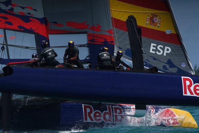 El equipo Spanish Impulse, en sus entrenamientos, la pasada semana en Islas Bermudas