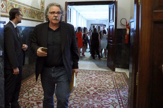 Joan Tardà, portavoz de ERC, este martes en el Congreso antes de...