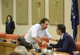 Pablo Iglesias y Pedro Sánchez, en la Diputación Permanente del...