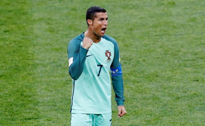 Cristiano Ronaldo celebra la victoria ante Rusia.