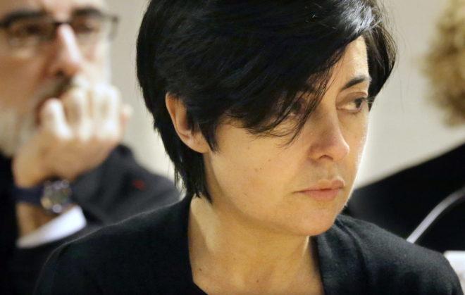 Rosario Porto durante una de las sesiones del juicio por el crimen de Asunta