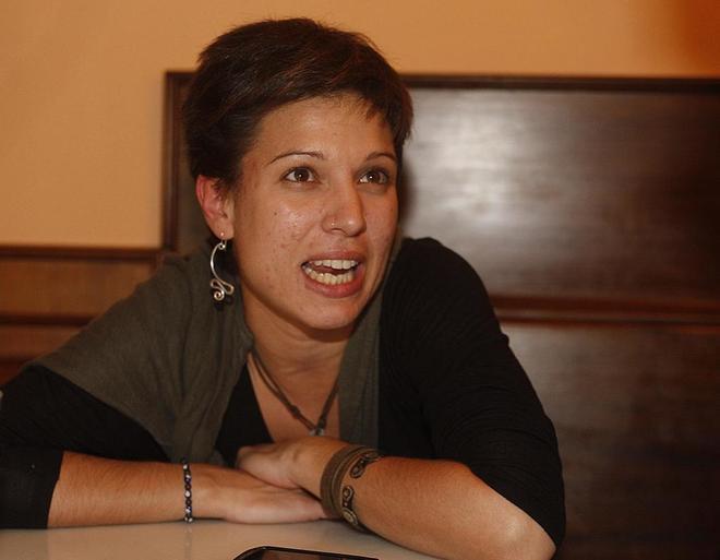 Beatriz Talegón en una entrevista en Vitoria en abril de 2013.