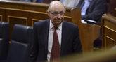 El ministro de Hacienda, Cristóbal Montoro, este jueves, durante el...
