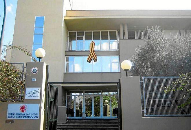 Imagen de la entrada del Instituto de Educación Secundaria Pau...