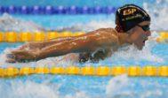 Mireia Belmonte, en las series de 200 mariposa, en los Juegos de Río.