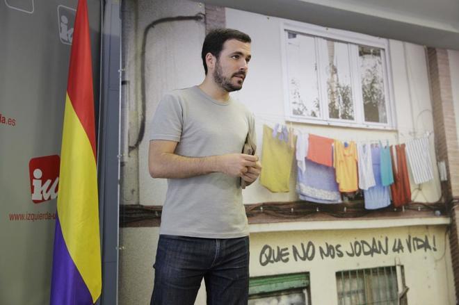 Alberto Garzón, en la Asamblea Político y Social de Izquierda Unida.