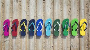 Havaianas de colores.