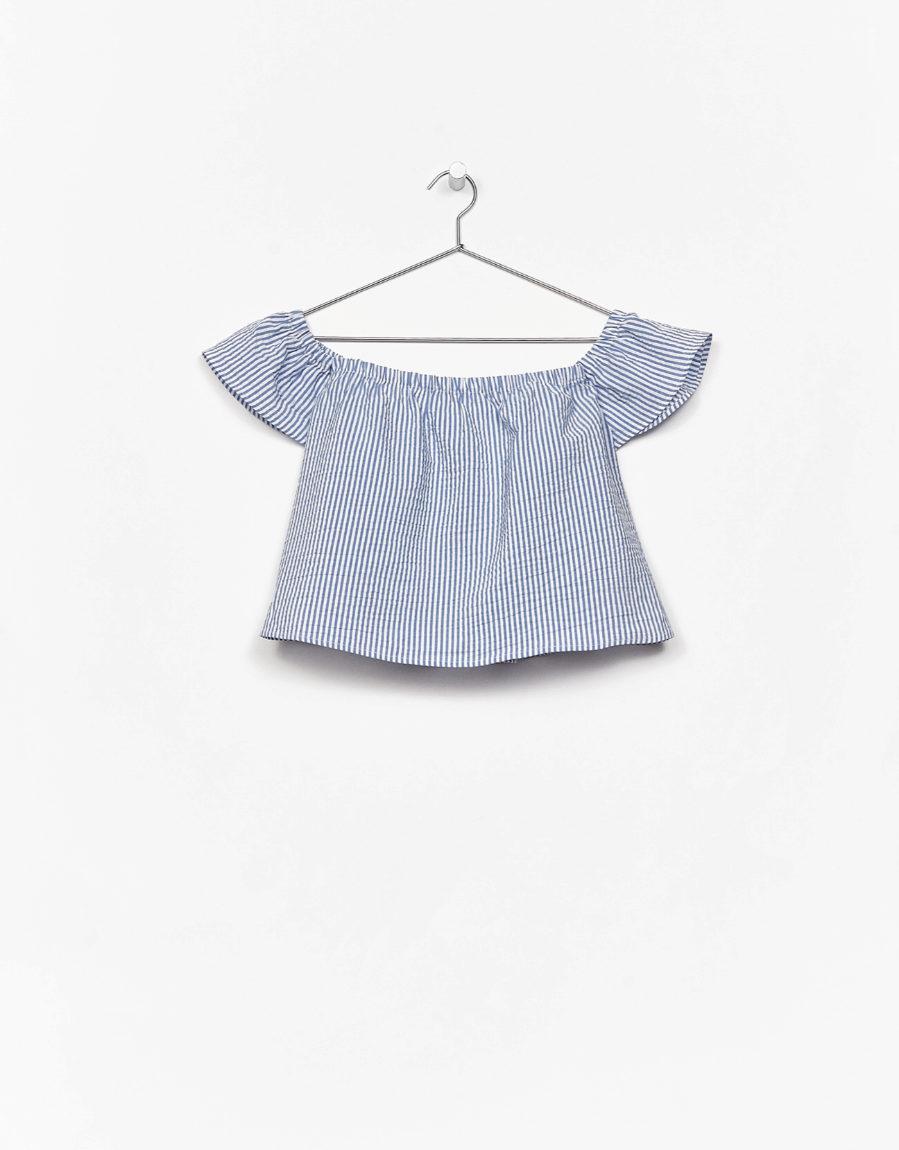 proporcionar una gran selección de nueva especiales reputación confiable Blusa 'off the shoulder', de Bershka | Yodona/moda | EL MUNDO