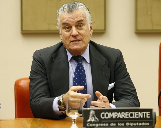 Luis Bárcenas, durante su comparecencia en la comisión sobre la presunta financiación ilegal del PP.