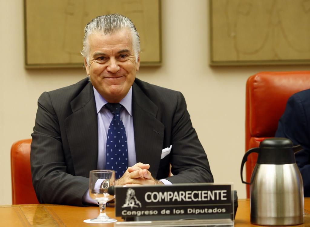 El ex tesorero del PP, Luis Bárcenas, ayer en el Congreso.