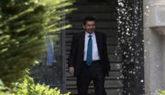 Manuel Moix abandona la sede de la Fiscalía General del Estado tras...