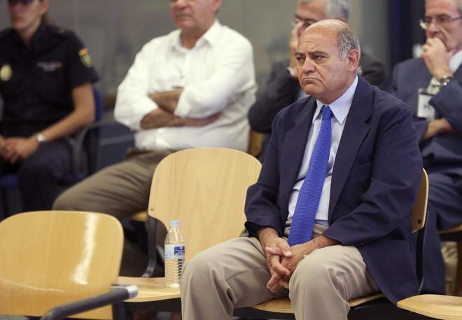 El ex presidente de la CEOE, Gerardo Díaz Ferrán, en el juicio por...