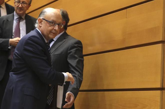 El ministro de Hacienda, Cristóbal Montero, durante la sesión de...