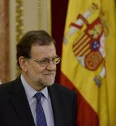 Mariano Rajoy, durante un acto en el Congreso en homenaje a las...