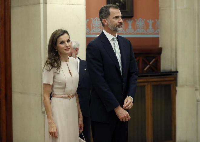 Los Reyes Felipe VI y Letizia en la Real Academia Española (RAE),...